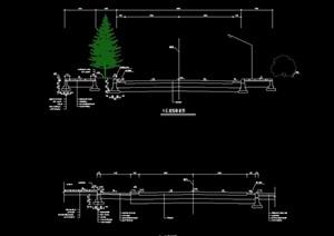 小区道路图例设计cad施工图