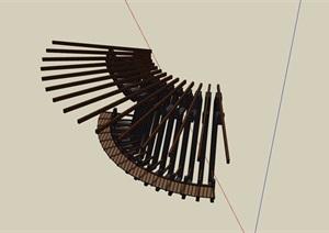 园林景观详细的经典廊架素材SU(草图大师)模型