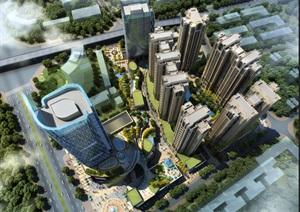 某新古典高层商业住宅SU(草图大师)精细模型