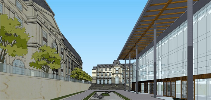 欧式古典国际贵族学校校园规划教学楼设计[原创]