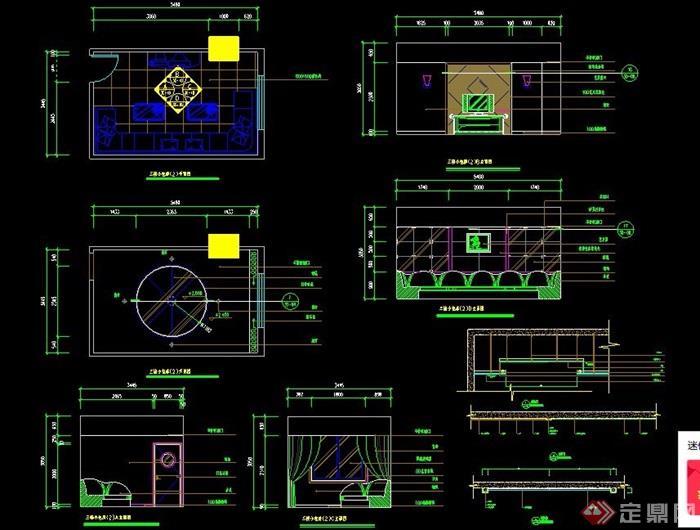KTV包房室内装修设计图纸