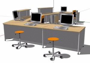 现代风格柜台服务台设计SU(草图大师)模型