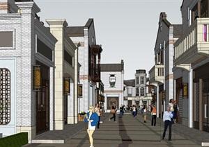 民国风格商业街建筑景观