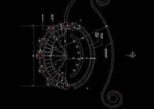 详细的喷泉cad施工图