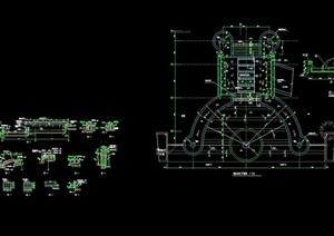 详细的完整喷泉水景设计cad施工图