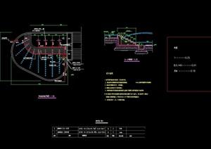 现代详细喷泉水景素材设计cad施工图