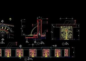 喷泉详细的设计cad施工图