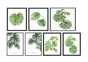 现代植物叶子装饰画SU(草图大师)模型