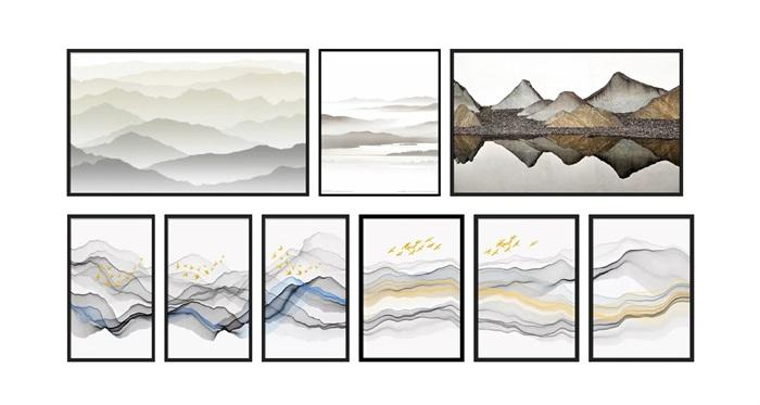 新中式山水装饰画(1)