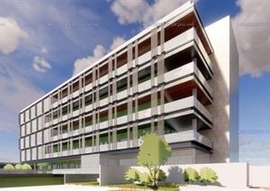 现代创意社区服务活动中心敬老养老院老年大学综合体设计