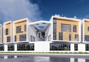 现代先锋创意木头白色搭配明快色调坡屋顶幼儿园托儿所设计
