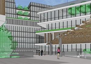 现代创意商业购物中心产业园区商务办公楼综合体规划