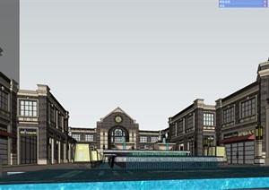 某英式住宅入口商业SU(草图大师)精细模型
