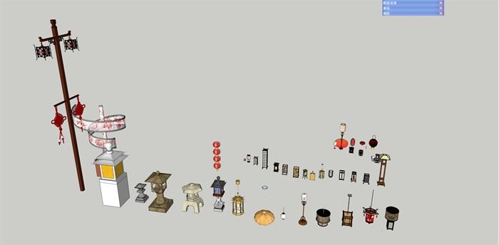 某灯具、吊灯su精细霸气模型帅(1)