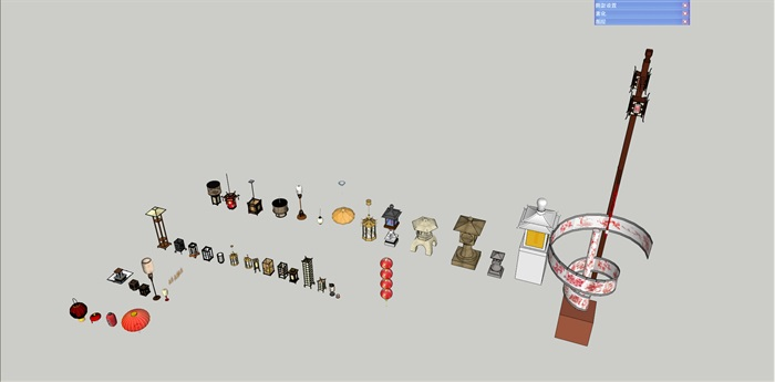 某灯具、吊灯su精细霸气模型帅(2)