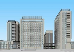 现代大型简约白色综合医院疗养院规划设计
