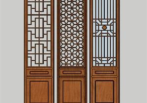古建筑 古门 模型 建筑素材设计 SU(草图大师)模型