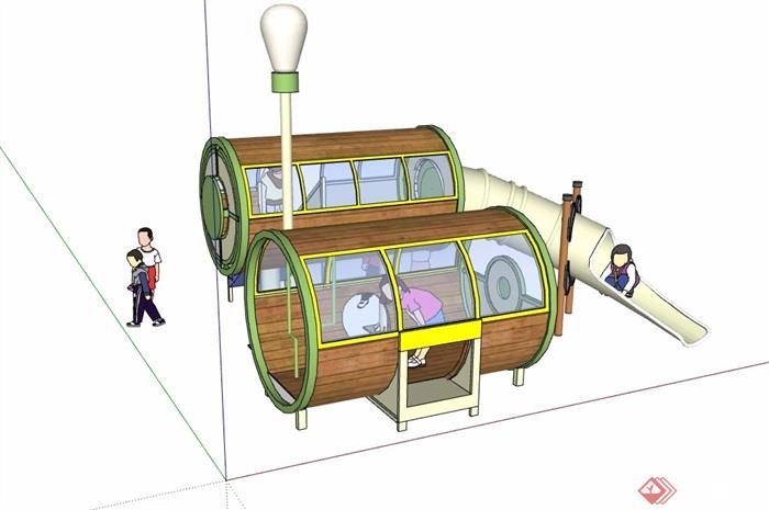 详细的游乐设施素材su模型