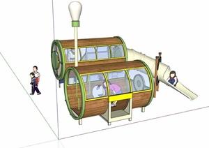 详细的游乐设施素材SU(草图大师)模型
