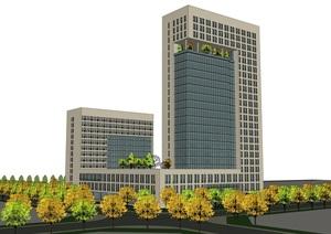 现代办公建筑设计 办公建筑SU(草图大师)模型合集1