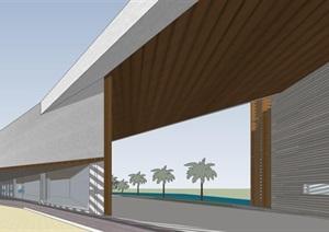 几何形体城市休闲公园创意文化休闲展示小型建筑