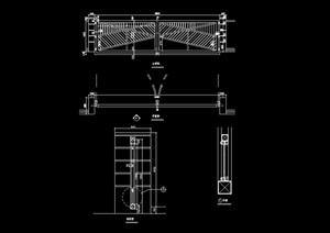 详细的栏杆围墙设计cad施工图