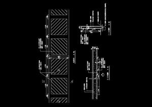 现代详细的围墙设计cad施工图