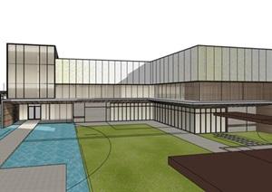 现代简约透明性表皮住宅区售楼部示范区商业展示活动中心