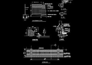 详细的经典围墙设计cad施工图