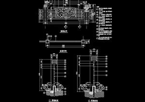 铁艺栏杆围墙设计cad施工图
