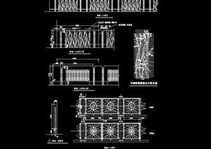 现代风格围墙素材设计cad施工图