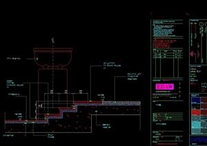 园林景观台阶素材设计cad剖面图