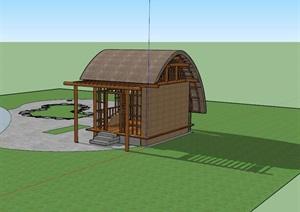 海南某项目船型屋模型设计