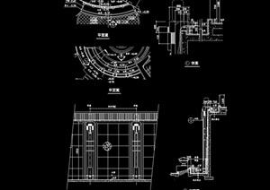 现代某详细的景墙设计cad施工图