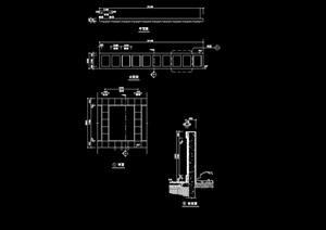 详细的经典景墙设计cad施工图