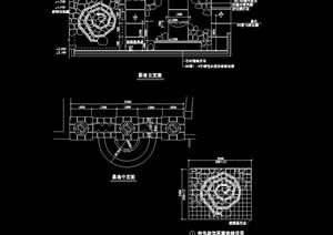 现代详细的经典景墙设计cad施工图