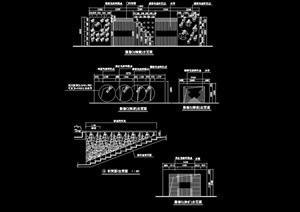 详细精致的景墙设计cad施工图