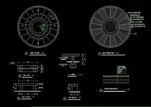 详细的石凳设计cad施工图