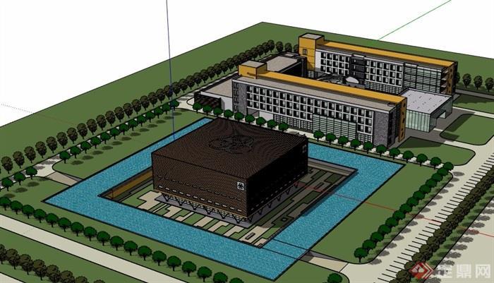 某详细核物理研究所办公建筑su模型
