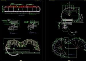 铁艺藤架素材设计cad施工图