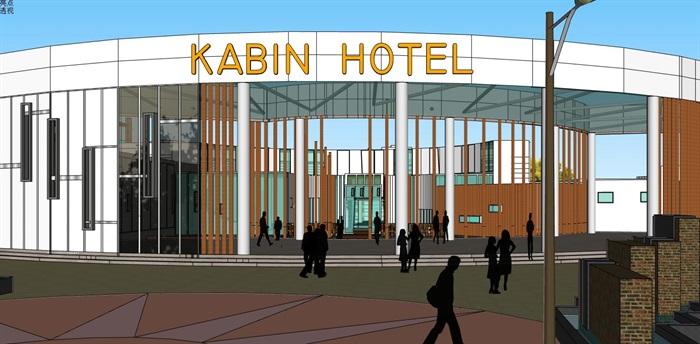 现代创意水上圆形中心发散式度假酒店民宿会所群规划(4)
