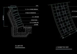 挡土墙素材设计cad施工图