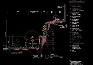 详细完整的挡墙设计cad施工图
