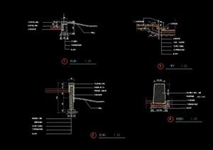 现代详细的挡墙素材设计cad施工图