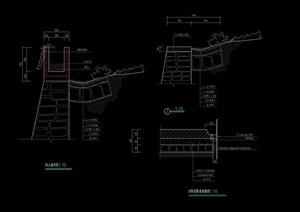 现代园林景观挡土墙设计cad施工图