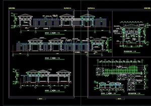 休闲中式廊亭素材设计cad施工图