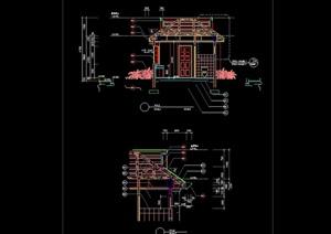 某中式风格建筑门素材设计cad施工图