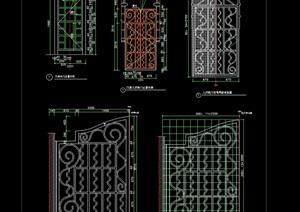 某详细的建筑门素材设计cad方案