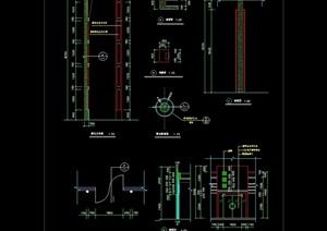 某建筑大门素材设计cad施工图