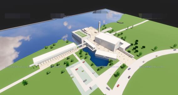 现代大型简约体块穿插组合式清水混凝土城市文化中心建筑群规划博物展览馆(3)